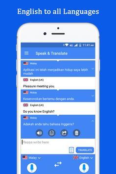 Sprechen und übersetzen Sie Sprachübersetzer Screenshot 5