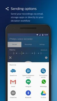 Philips voice recorder Ekran Görüntüsü 2