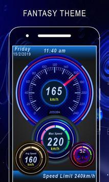 GPS 속도계 HUD 디지털 디스플레이 포스터