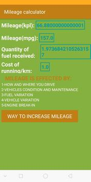 Mileage calculator para Android - APK Baixar