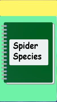 Spider species ebook poster
