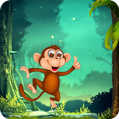 Jungle Monkey Survival: Free Run Game-icoon