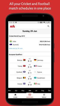 SK Sports App: Get Live Scores & Wrestling News screenshot 2