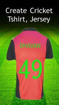 Cricket Jersey & T-shirt Maker syot layar 2