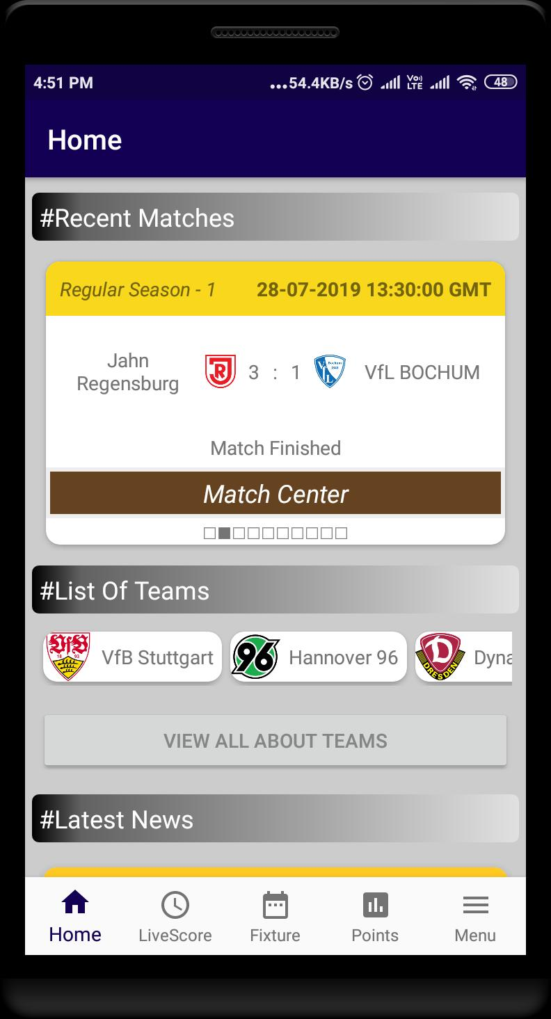Second Division Of Germany Football LiveScore for Android