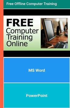 Free Offline Computer Training poster
