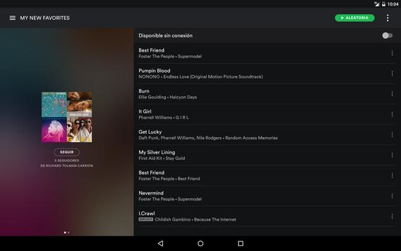 Spotify captura de pantalla 9