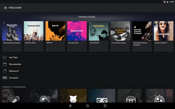 Spotify capture d'écran 8