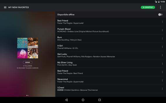 9 Schermata Spotify