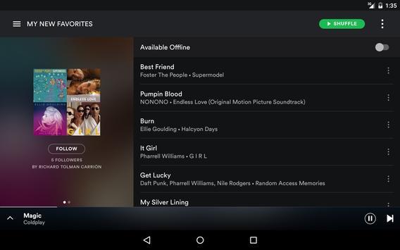 Spotify capture d'écran 12