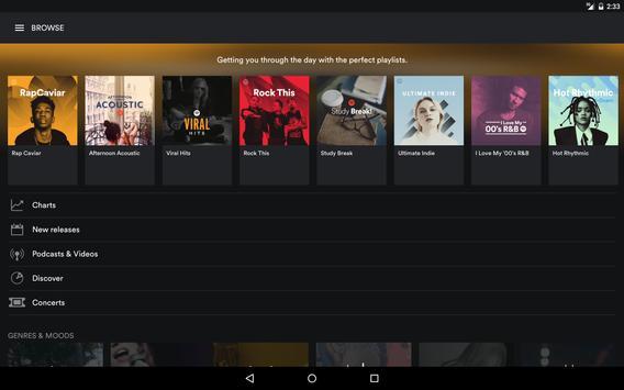 Spotify capture d'écran 8