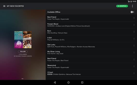 Spotify स्क्रीनशॉट 9