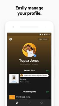 Spotify for Artists poster