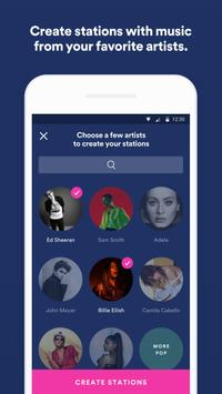 Spotify Stations: Streaming radio & music stations capture d'écran 1
