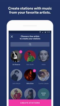 Spotify Stations: Streaming music radio stations screenshot 1