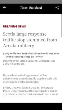Eureka Times-Standard screenshot 2