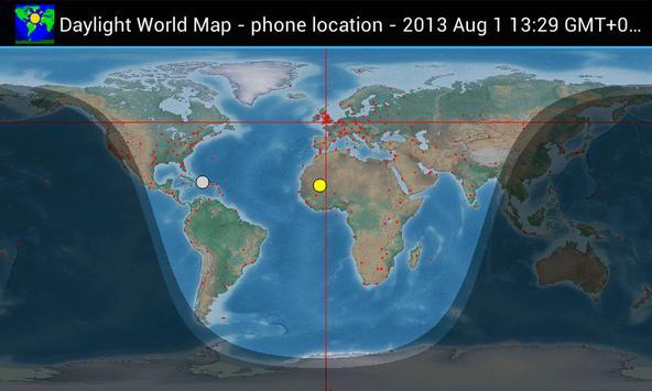 Daylight World Map für Android - APK herunterladen on