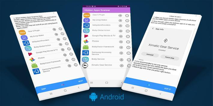 Hidden Apps and Permission Manager screenshot 1