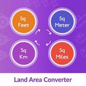Sqm, Sqkm, Square Miles, Square Feet Converter icon