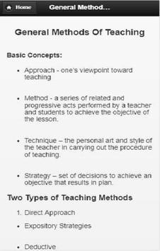 General Methods of Teaching screenshot 2
