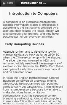 Computer concepts and application screenshot 1