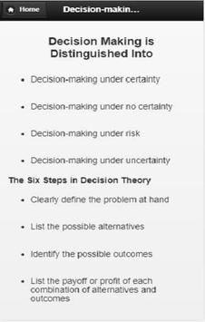 Decision  Making screenshot 7