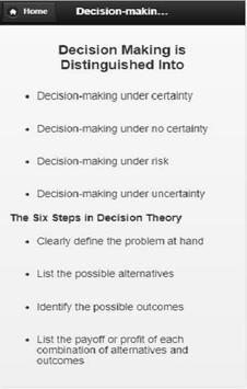 Decision  Making screenshot 1