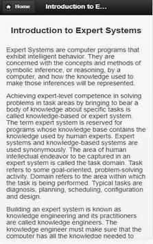 Expert System screenshot 2