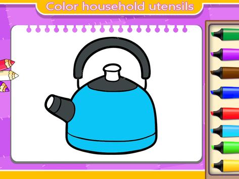 kitchen coloring book for kids screenshot 3