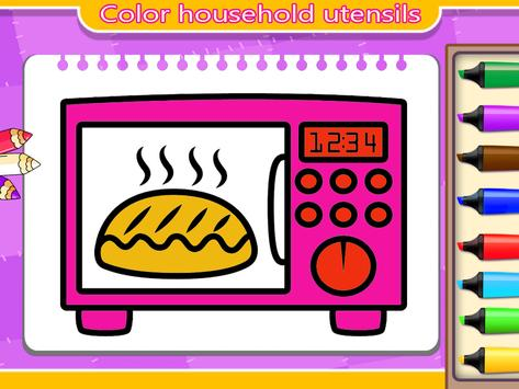 kitchen coloring book for kids screenshot 5