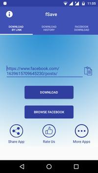 Video Downloader for Facebook : Save Videos -fSave poster