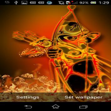 Galaxy Fire HD Live Wallpaper screenshot 1