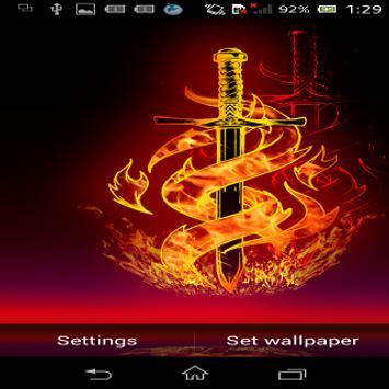 Galaxy Fire HD Live Wallpaper screenshot 3