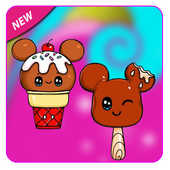 How to draw Ice Cream Characters icon