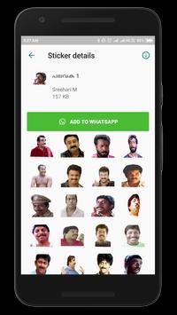 Malayalam Stickers स्क्रीनशॉट 7