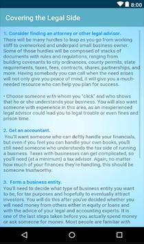 Starting a Small Business Plan screenshot 3