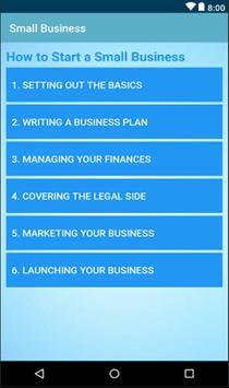 Starting a Small Business Plan screenshot 1