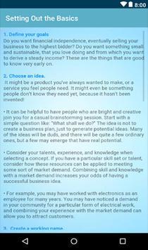 Starting a Small Business Plan screenshot 2