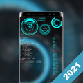 Futuristic Launcher -- Aris Hacker Theme