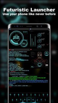 Lanceur futuriste - Thème Aris Hacker Affiche