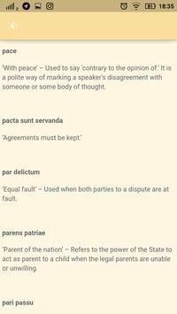 Law Made Easy! Latin Legal Terms تصوير الشاشة 4