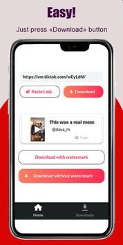 TikTok Video Downloader No Watermark - sssTik plakat
