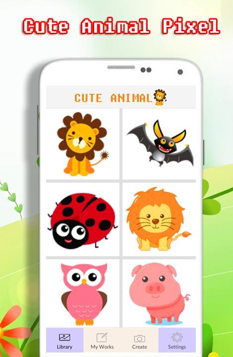 Livre De Coloriage Animal Mignon Par Numéro Pour Android