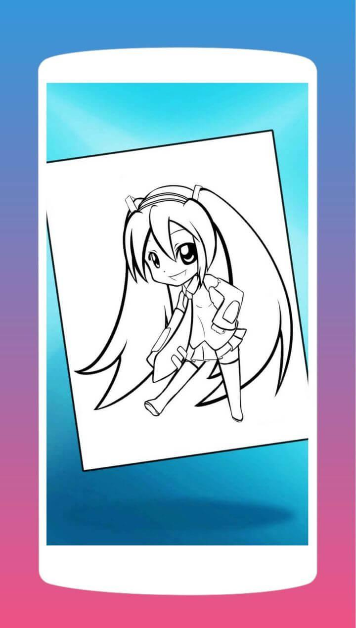 Dibujo De Anime Chibi Para Colorear For Android Apk Download