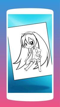 Anime Chibi Manga Coloring Book poster