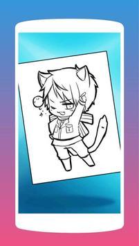 Anime Chibi Manga Coloring Book screenshot 1