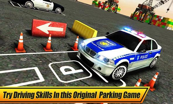 Real Police Car Parking 3D Sim poster