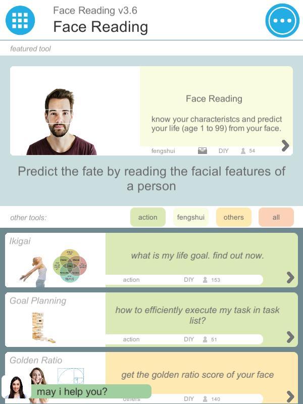 Face Reading DIY poster