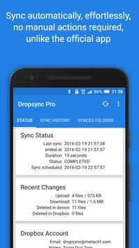 Autosync for Dropbox - Dropsync スクリーンショット 1