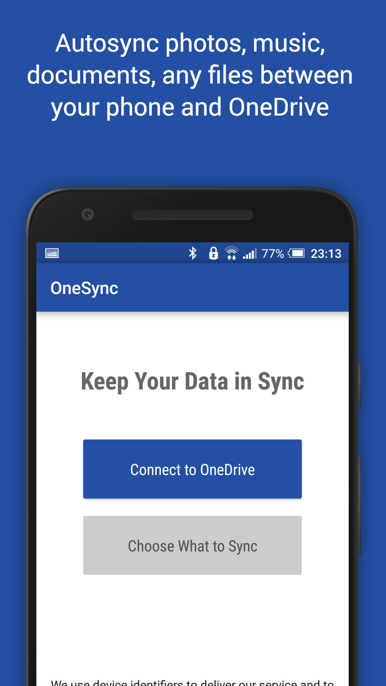 Autosync for OneDrive - OneSync для Андроид - скачать APK